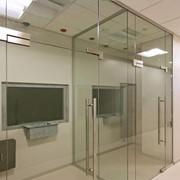 Двери распашные стеклянные фото