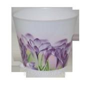Горшок для цветов из пластика Крит Ирис фото