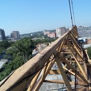 Монтаж башенного крана QTZ 125 фото