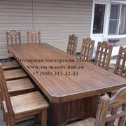 Столы и стулья из массива фото