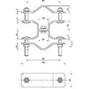 105355 Крепежный элемент для трубостоек DEHNiso-Combi NIRO (DEHN)