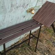 Скамейки столики. Настил полимерные доски фото