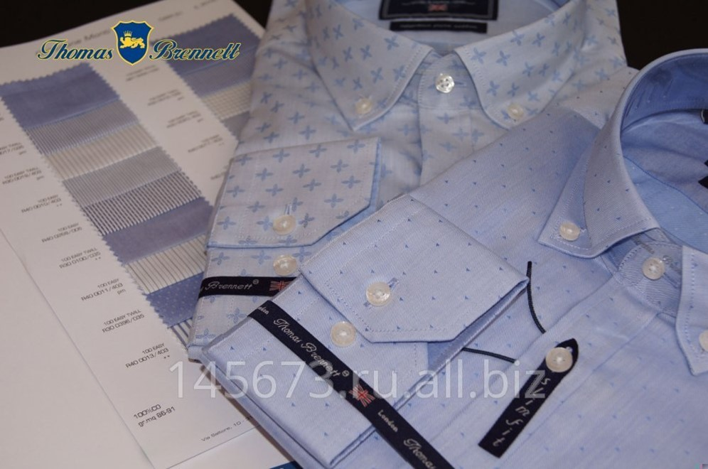 4da3fcd703b Мужские сорочки ( рубашки) Thomas Brennett Италия длинный рукав фотография