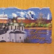 Магнит Подкова с матрешкой Великий Новгород, арт. 99021/7** фото