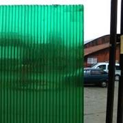 Сотовый поликарбонат 4 мм. Зелёный фото