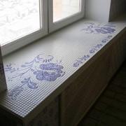 Подоконники из мрамора, подоконники мозаичные на заказ по всей Украине фото