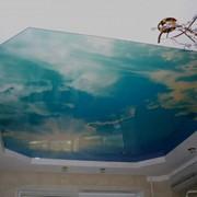 Арт-печать на натяжных потолках фото