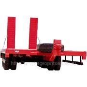 Трехосный прицеп трал с заездными трапами г/п 20 тонн, для перевозки спецтехники и ГНБ