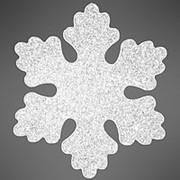 """Снежинка """"Облако"""", искристая, 16 см, белая, 2шт (Зимняя Сказка) фото"""