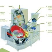 Центрическая напылительная машина фото