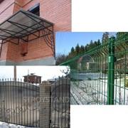 Монтаж металлических металлоконструкций и ограждений фото