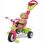 Детский велосипед трехколесный металлический Baby Driver Confort Sport Fille Smoby фото