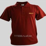 Рубашка поло Seat бордовая вышивка золото фото
