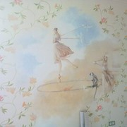 Роспись на стене фото