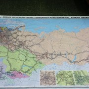 Карта железных дорог государств участников СНГ, Латвии, Литвы, Эстонии фото