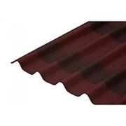 Кровельные волнистые листы NEW ОНДУЛИН ЧЕРЕПИЦА 1950х950 мм красный фото