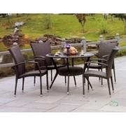 Комплект плетеной мебели стол Ода и кресло Викос фото