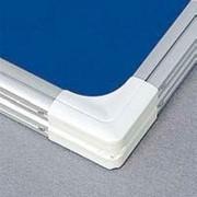 [2x3GT296] Доска витрина текстильная 2x3 GT296 60х90 модель 2 синяя, алюмин.рамка фото
