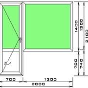 Большой балконный блок ПВХ фото