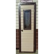 Двкрной блок для хозпостроек с окном