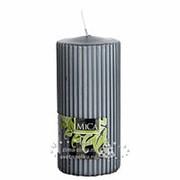 "Свеча рифленая ""Аура"" Макси, 150*70 мм, темно-серый (Edelman) фото"