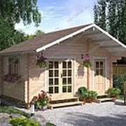 Садовый домик из бруса «Солнечное утро» фото