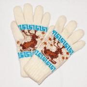 Перчатки шерстяные, бесшовные фото