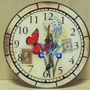 Часы настенные Сковорода с яичницей-синие, арт. 2312/1** фото