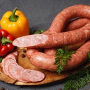 Колбаса салями мясная варено-копченая Украинская первого сорта фото