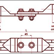 Зажим переходной петлевой ПАС-300-2
