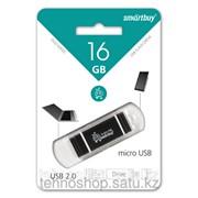 USB накопитель Smartbuy 16GB Duo Silver SB16GBDuo-K фото