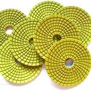 Алмазные эластичные диски для шлифовки и полировки гранита и мрамора с водяным охлаждением пр-ва Ю. Корея фото
