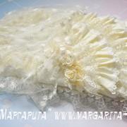 Конверт - Роза - с накидкой, кружево органза ярусами (лето) фото