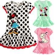 Одежда детская 2014 children dress wholesale and retail Minnie cartoon little striped kitty dot dress Girls baby girls clothing dresses kids, код 1645673613 фото