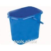 Ведро пластмассовое прямоугольное 16 литров, синее