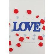 """Декор-надпись """"LOVE"""" с блёстками /синий фото"""