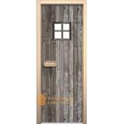 Дверь для сауны АКМА Арт-серия GlassJet ДВЕРЬ С ОКНОМ 7х19 (коробка липа) фото