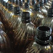 Пэт бутылка 1.0 литра коричневая фото