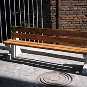 Скамейки бетонные фото