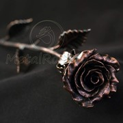 Медная кованая роза фото