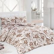 Комплект постельного белья Ashmira Бежево-коричневый, сатин, 100% хлопок, 2,0х фото