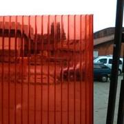 Сотовый поликарбонат 4 мм. Красный фото