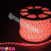 Дюралайт шнур круглый красный x-0154 фото