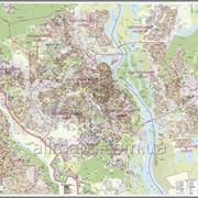 Настенная карта г. Киева к каждому дому - 160х110 см - ламинированная/на планках фото