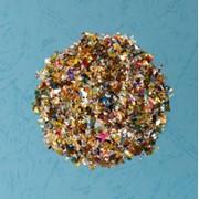 Конфетти (дроблёное) разноцветное, диаметр 4-8 мм фото