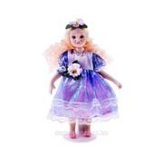 Кукла керамика Валерия с кудряшками в блестящем платье 18 см 695934 фото