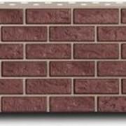 Кирпич красный панель цокольного сайдинга FineBer фото