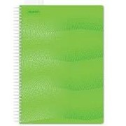 Бизнес-тетрадь 100л, А4, кл, спираль, Attache WAVES, обл. пластик, зеленый фото
