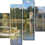 Картина модульная Мост в Аржантее фото