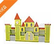 Стеллаж для пособий и игрушек Замок с часами фото
